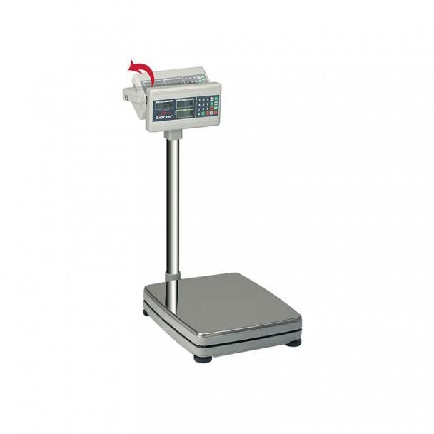 Waage 150 kg Elektronik - Boden mit Inox Basis Quadratisch