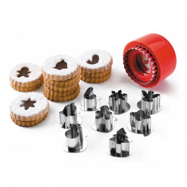 Set 8 Schneider Kekse Motive Weihnachten
