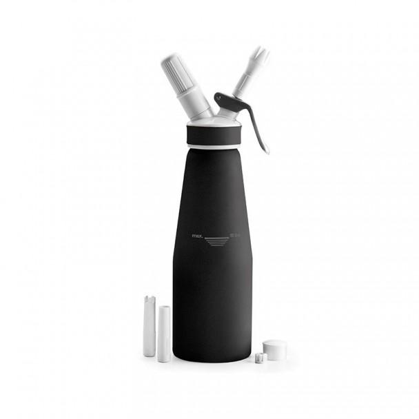 Flasche Siphon Creme Aluminium Black
