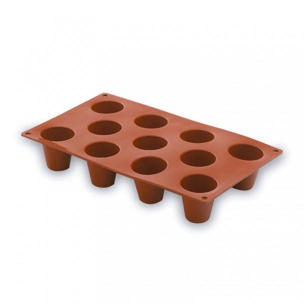 Form Zylinder Mittel 11 Hohlräume Silikon Pastryflex
