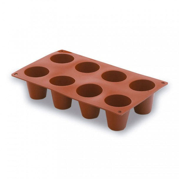 Form Zylinder, Groß 8 Kavitäten Silikon Pastryflex