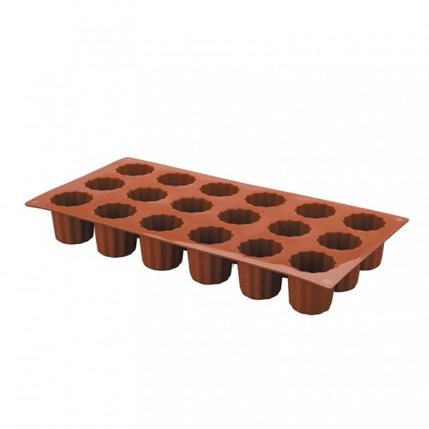 Form Mini-Bordelais, 18 Kavitäten Silikon Pastryflex
