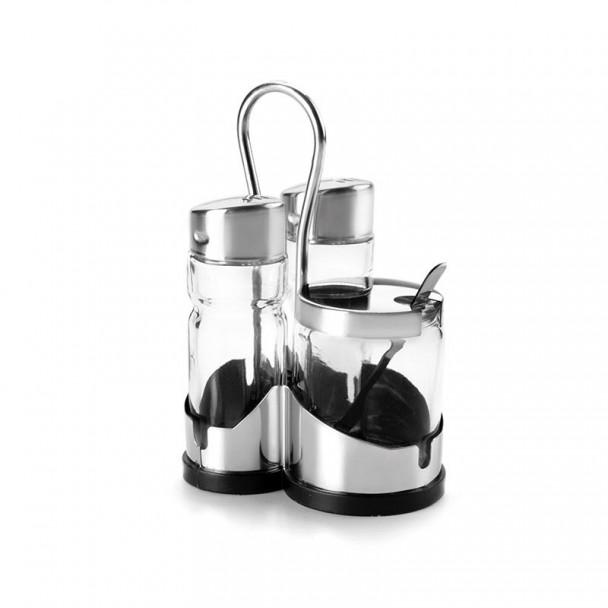 Spiel Salz-Und Pfefferbüchse-Senf-Basic Inox