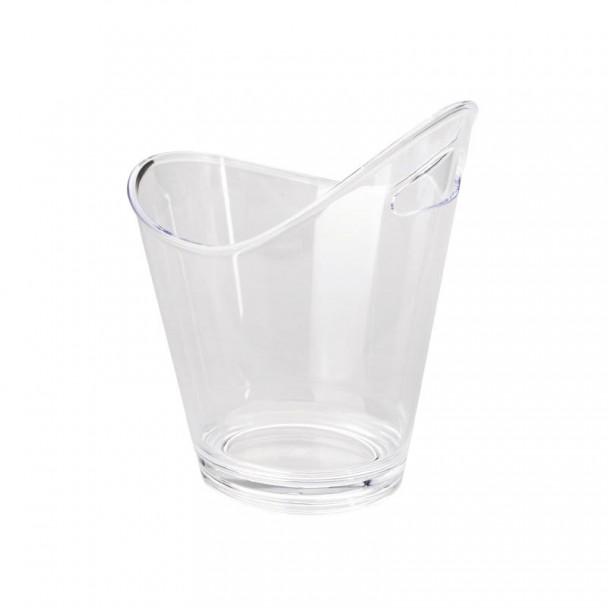 Cube Enfriabotellas Acryl Transparent, Doppelt mit bügel