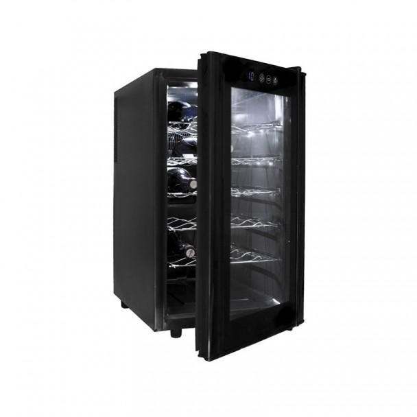 Schrank, Kühlschrank, Elektrische 48 l/70 W - 18 Flaschen Black Line