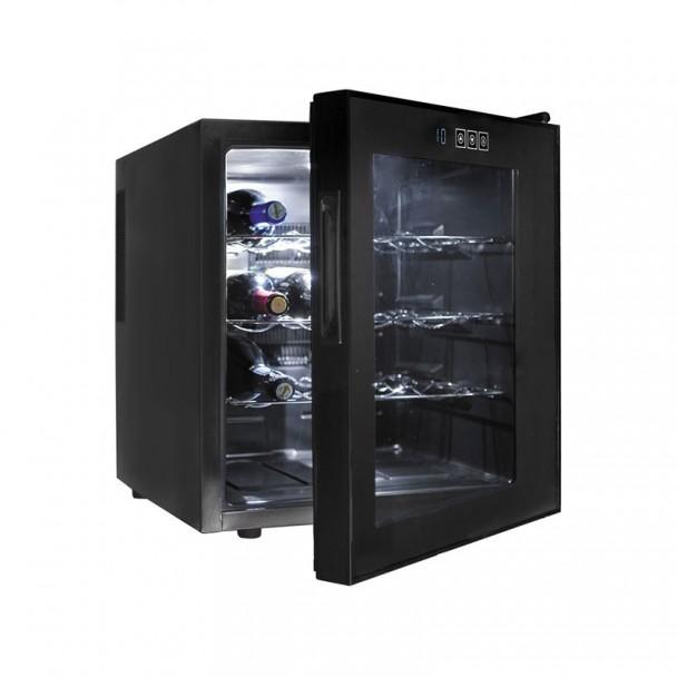 Schrank, Kühlschrank Elektrisch und 46 l/70 W - 16 Flaschen Black Line