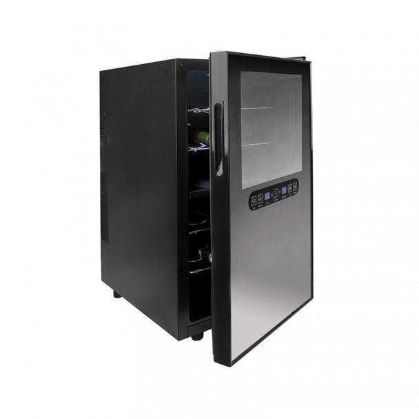 Schrank, Kühlschrank, Elektrische 48 l/100 W - 18 Flaschen Black Line