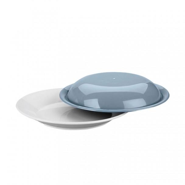 Teller Flach Polycarbonat 22x3 cm mit Deckel