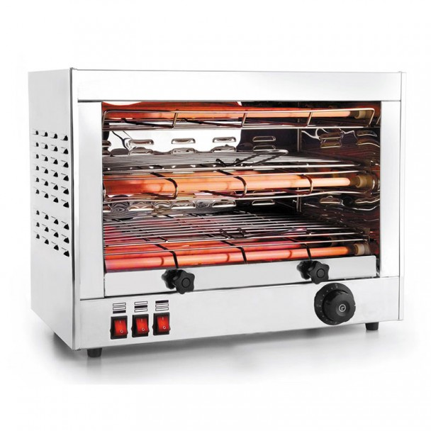 Toaster Elektrisch Horizontal 6 Lampen