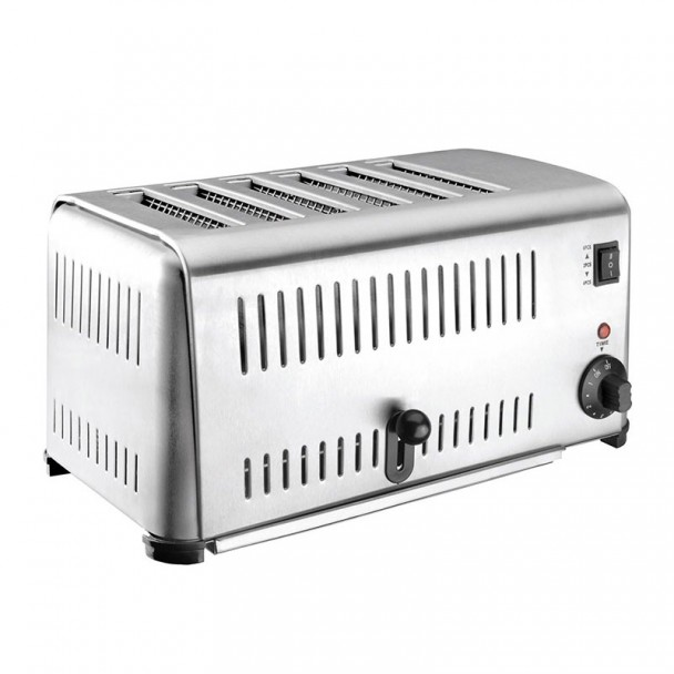 Toaster Buffet-Inox 6-Slots
