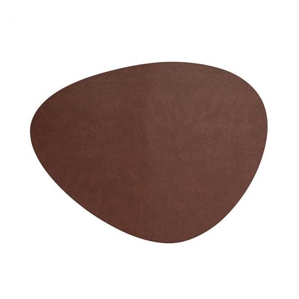 Tischset Braun Leder Lacor