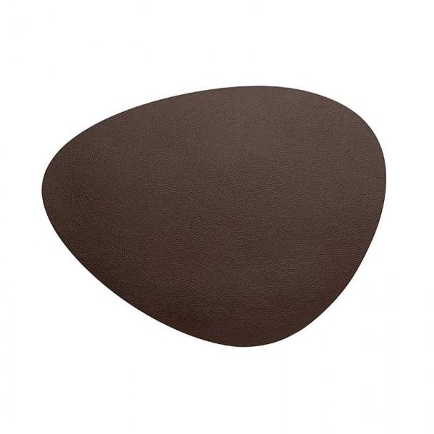 Tischset Genarbtem Leder Braun Lacor