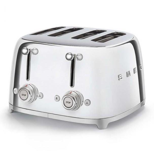 4x4 50er Jahre Stil Chrom Toaster