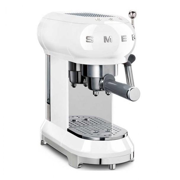 Espresso Kaffeemaschine 50er Jahre Stil weiß