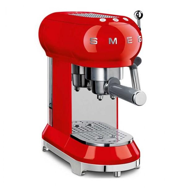 Espresso Kaffeemaschine 50er Jahre Stil rot