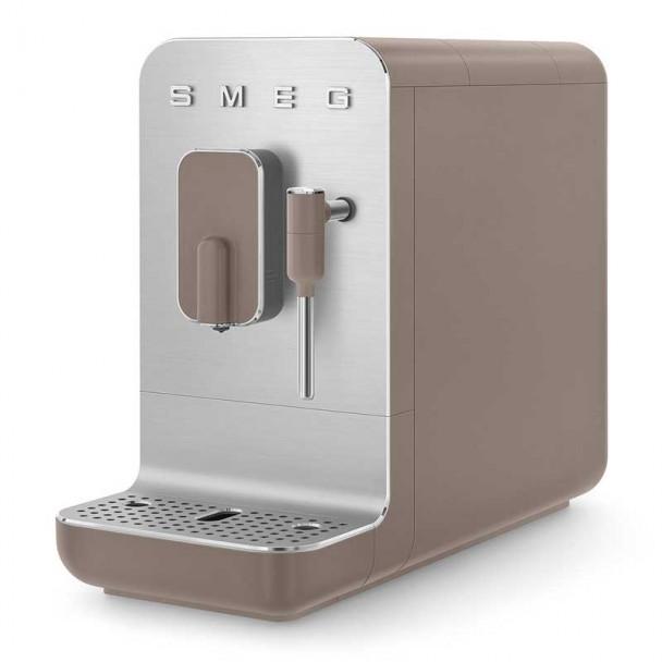 Super automatische Kaffeemaschine mit Dampfer 50er Stil grau
