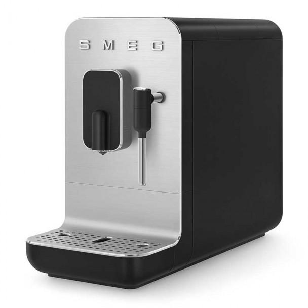 Super automatische Kaffeemaschine mit Dampfer 50er Stil schwarz